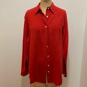 Vintage Abercrombie & Fitch Men's Silk Shirt M